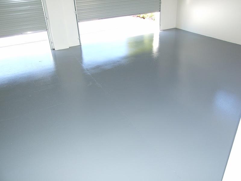 Epoxy floor to garage (after)