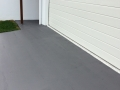 Coloured finish on driveway