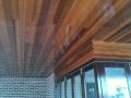 Timber cedar ceiling lining alfresco area