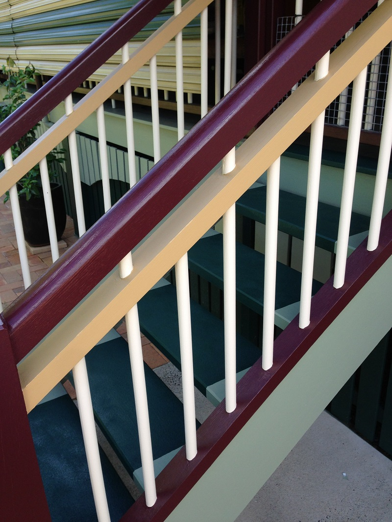 Repaint of stairs