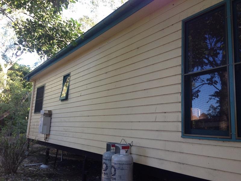 Repaint of exterior (before)