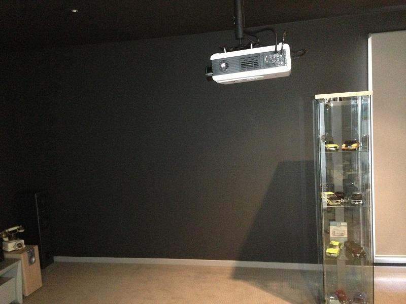Repaint to create media room