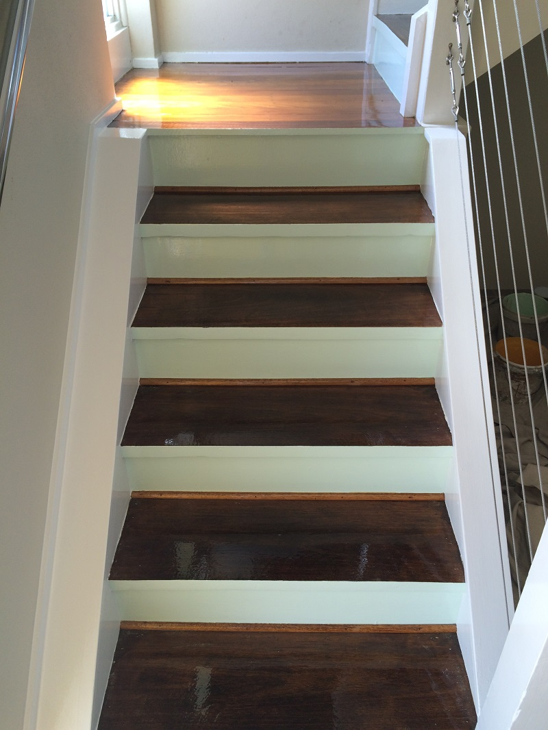 Staircase repaint (after)