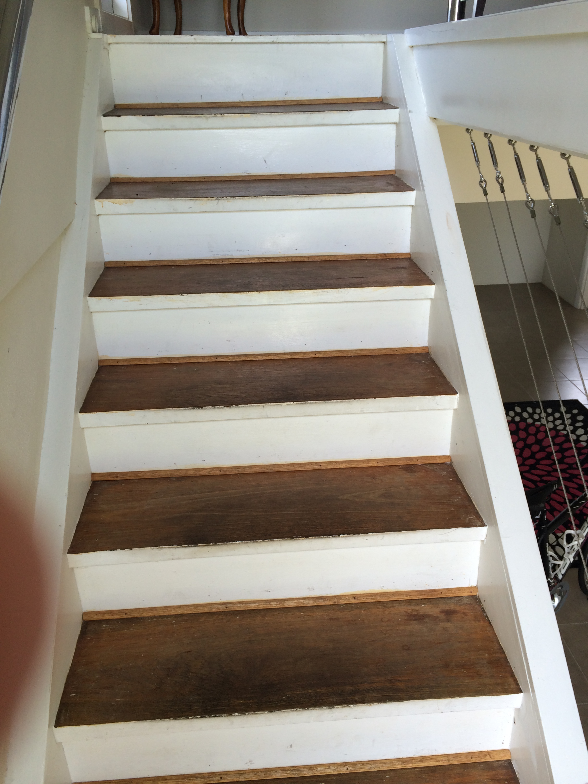 Staircase repaint (before)