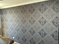 Wallpaper feature in lounge room