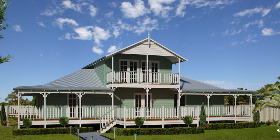 Queenslander home caloundra painter for Modern queenslander home designs